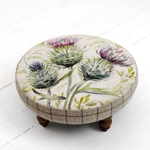 Thistle Glen Round Footstool