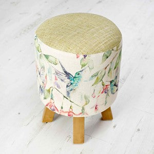 Fuchsia Flight Footstool