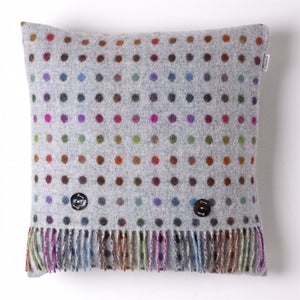 Grey and Multi Spot Cushion