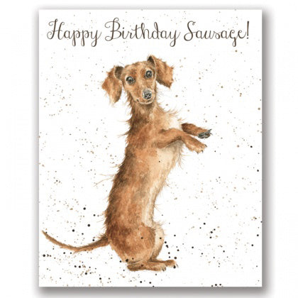 Happy Birthday Sausage Wrendale designs - card