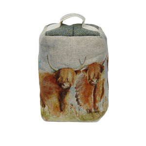 Highland Cattle Doorstop
