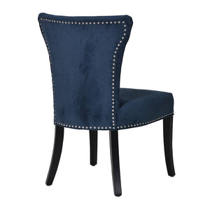 The Sophia Blue Velvet, Studded Dining Chair