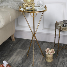 The Clarissa Antique Gold Table