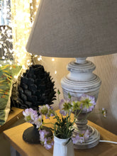 Whitewash Urn Table Lamp with Linen Shade