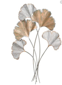 Gold Metal Ginkgo Branch Wall Art