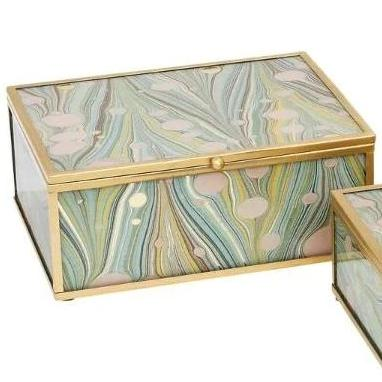 Marbled Jewellery box - Large