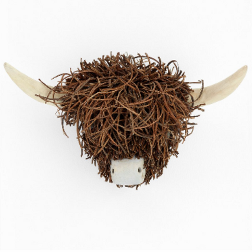 Wall mounted Twig cow head Gordon