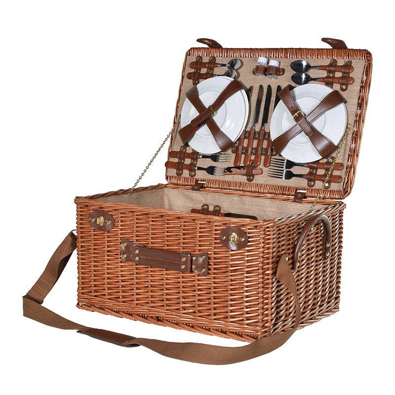 4 Person Rattan Picnic basket