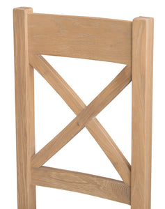 Londesborough Ladder/Cross Back Chair (Wooden/Fabric Seat)