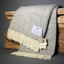 Herringbone Mohair Grey Throw
