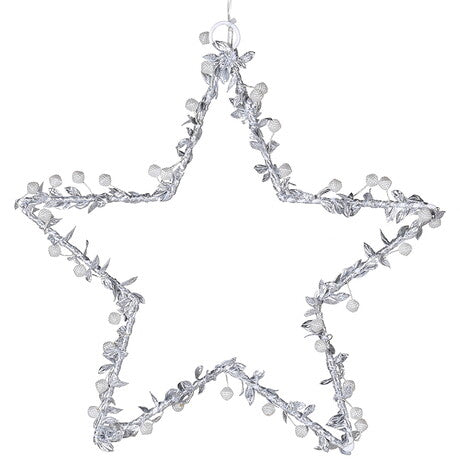 Beaded lit star decor