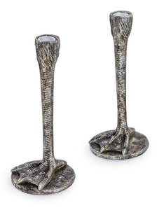 'Nice pair' - Candlestick holders pair