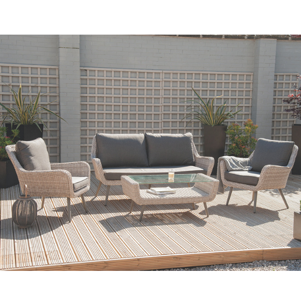 Sand 4 piece patio set