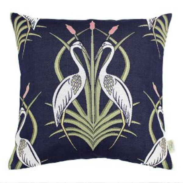 Heron Cushion - Navy