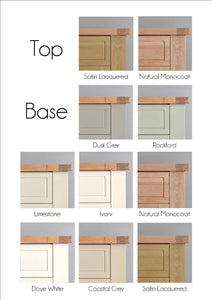 Brittany Dresser Top and Sideboard - Wood Finish or Painted