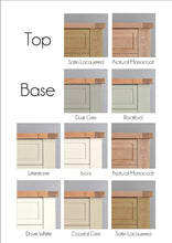 Brittany 2 Door Display Cabinet - Wood Finish or Painted