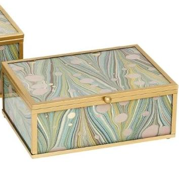 Marbled Jewellery box - Small