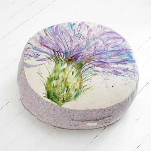Expressive Thistle Floor Cushion