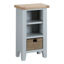 Thornby Small Narrow Bookcase in Grey or White