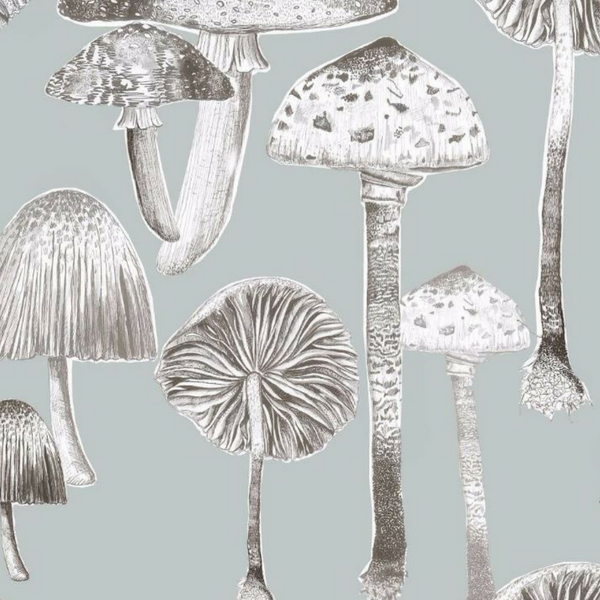Toadstool Wallpaper - 4 Colours