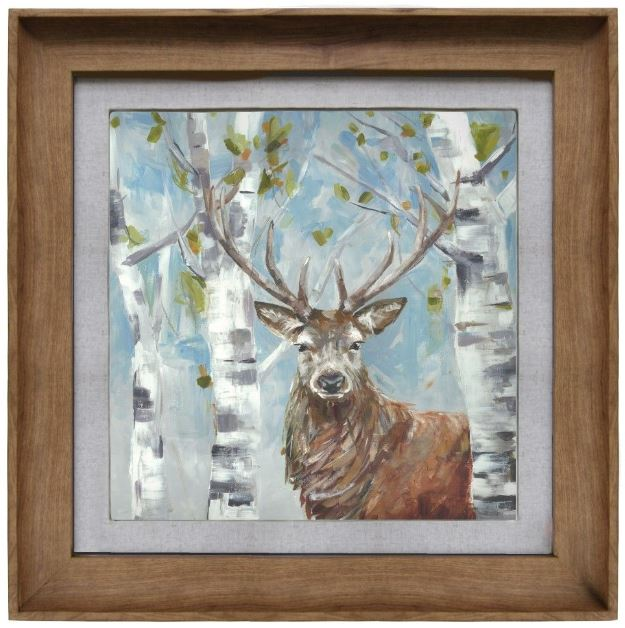 Woodland Stag Framed Art
