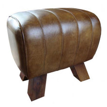 Leather Footstool (Straight and Cross Stitching)