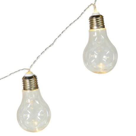 String of 10 Edison Bulb LED Lights