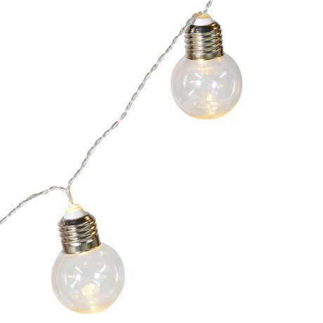 String of 10 Clear LED Bulbs
