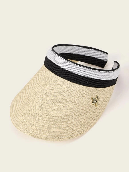 Bee Decor Straw Visor Hat
