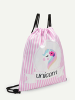 Unicorn Print Drawstring Carry Bag