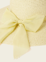 Chain Detail Bow Sun Hat
