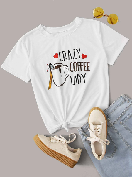 Crazy Coffee Lady Graphic Tee