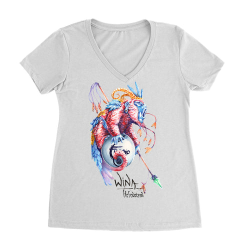 Wina Fuego Women's V-neck