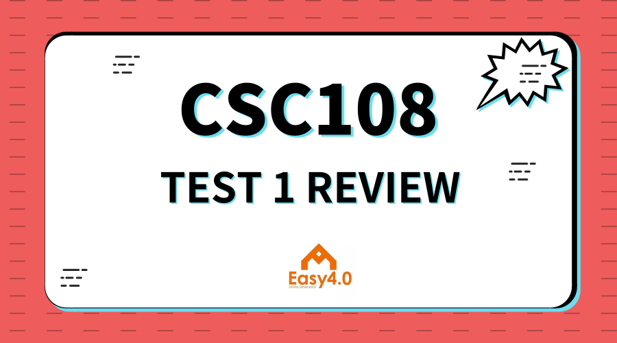 2018FALL-CSC108 TEST 1 REVIEW EARLY BIRD