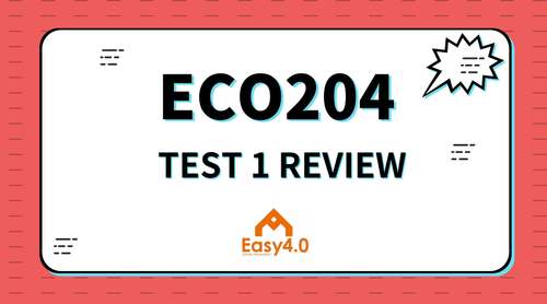 2018FALL-ECO204 TEST 1 REVIEW EARLY BIRD