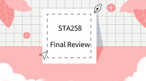 2018—Fall  STA258 Final Review Early Bird