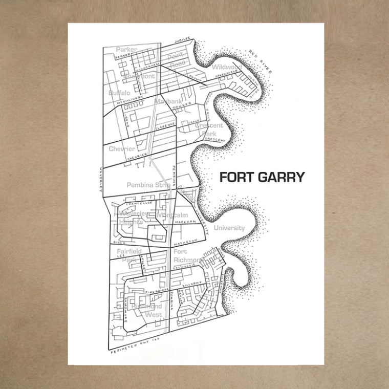 PRINT FORT GARRY 12X16