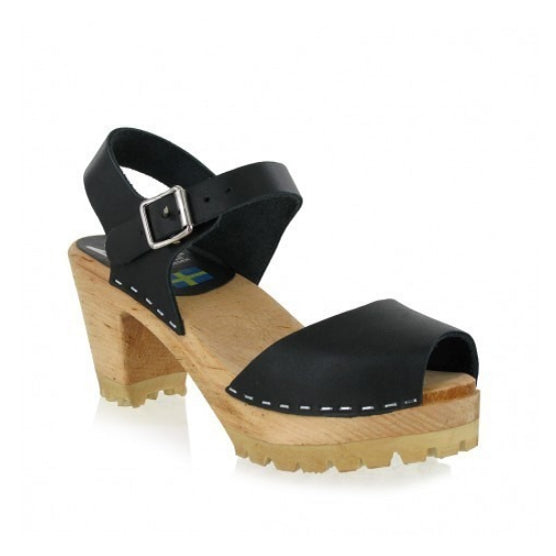 GRETA PEEP TOE HIGH HEELED CLOG