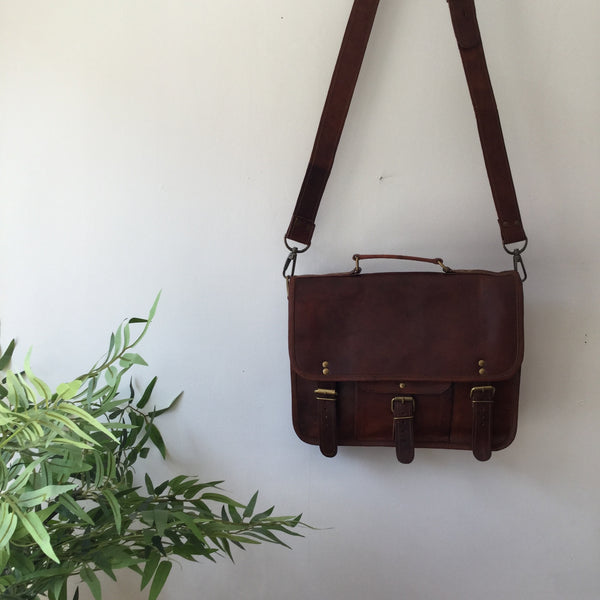 "FAIR TRADE 13"" SATCHEL CROSSBODY"