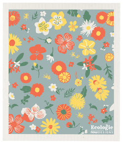 FLOWERS OF THE MONTH ECOLOGIE SWEDISH SPONGE CLOTH