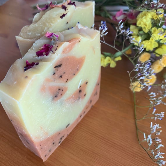 LEMON ROSE NATURAL SOAP BAR