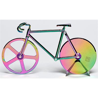 FIXIE BICYCLE IRIDESCENT PIZZA CUTTER