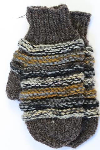 FAIR TRADE MITTS LINE CABLE KNIT