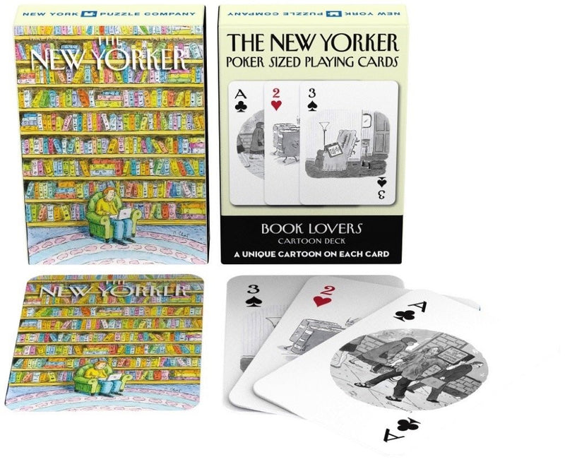 BOOK LOVER CARTOON PLAYING CARDS