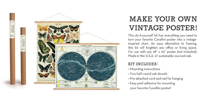 VINTAGE POSTER KIT -VERTICAL - USE WITH  GIFT WRAP!