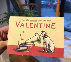 VALENTINE DOG BLANK GREETING CARD