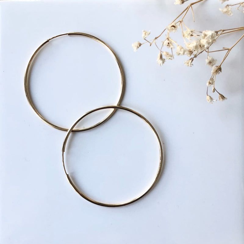 ENDLESS HOOP 42MM GOLD FILL