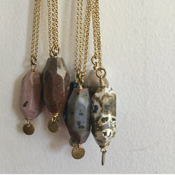 One of a kind tumbled jasper necklace