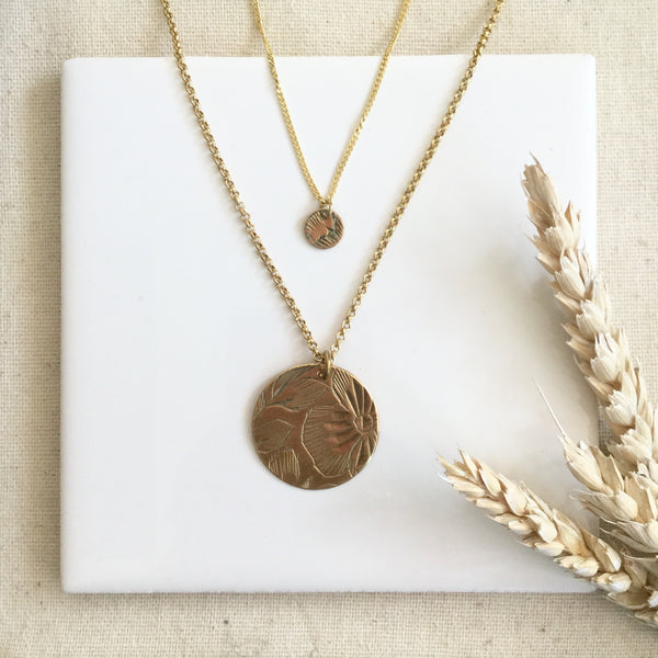 "NECKLACE VINTAGE COIN 24"" CHAIN"