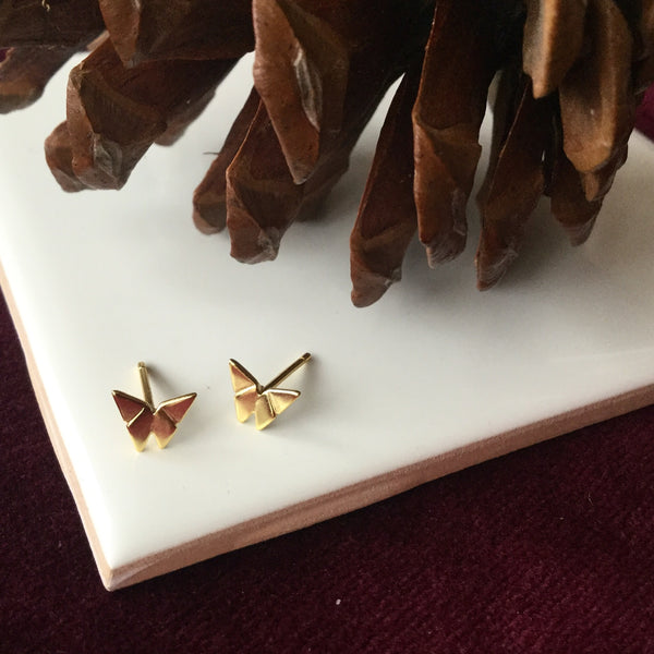 BUTTERFLY STUD GOLD VERMEILLE